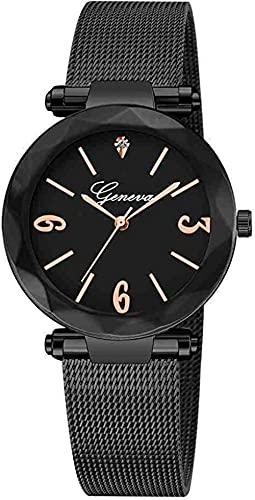 JZDH Mano Reloj Reloj de Pulsera Minimalista Simple Luxury Casual Reloj Malla de Acero Inoxidable Relojes Mujeres Ladies Relojes de Pulsera Relogiono Relojes Decorativos Casuales