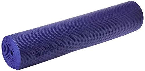 AmazonBasics - Yogamatte / Trainingsmatte, mit Tragegurt, 0,63 cm, Blau