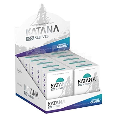 Ultimate Guard Katana Sleeves Turquoise Standard Size Cards Display Box [10 Packs]