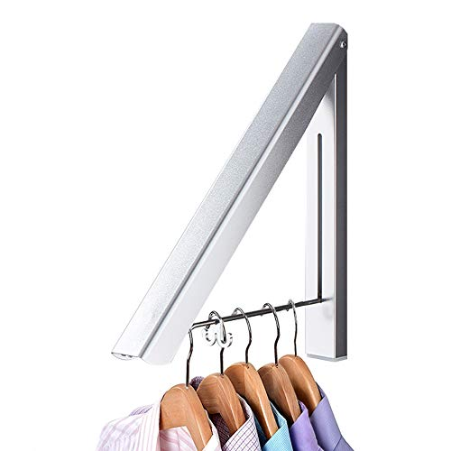 IN VACUUM Drying Racks for Laundry Foldable Retractable Clothes Drying Rack Folding Indoor Aluminium Home Storage Organizer Wall Hanger for Clothes 1 Racks Silver