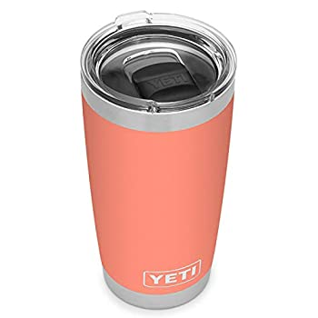 YETI Rambler 20 oz Tumbler Stainless Steel Vacuum Insulated with MagSlider Lid Coral