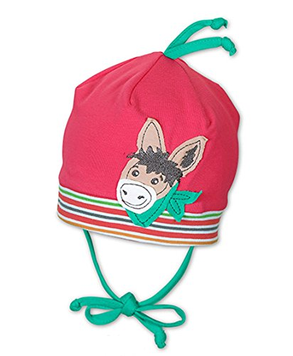 Sterntaler Baby Jerseymütze Esel UV-Schutz 50+, Größe:37, Farbe:Himbeere (734)
