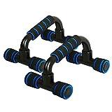 Soportes Pushup En forma de I H empuje ABS aptitud Hasta Bar Flexiones Soportes Barras de herramientas de fitness pecho del entrenamiento del ejercicio Esponja empuñadura Trainer 1 par Barras de empuj