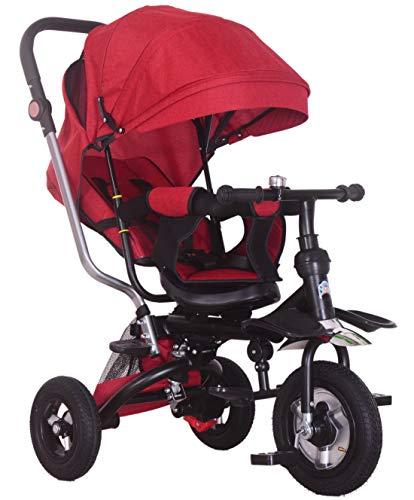 Triciclo Kids Trike, cochecito de bebé triciclo silla de empuje asiento reversible 5 en 1 Trike