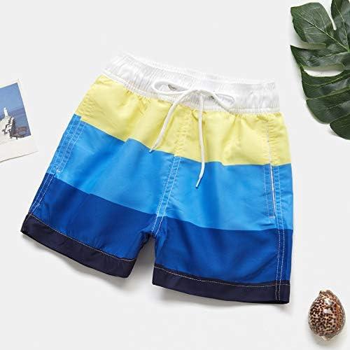 Boys Swimwear Swim Shorts Trunks Beach Board Shorts Swimming Pants Swimsuits Children Swimwuit Surffing Shorts (Color : Yellow, Size : 4 (3 4years))