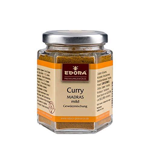 Premium Qualität Gewürz EDORA Schraubglas Curry Madras mild Gewürzmischung salzfrei 75 Gramm