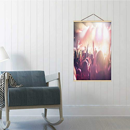 Hitecera Festival Hands Up People Partying,Poster Frame 16/19/24 Frams 24x35in(WxH)