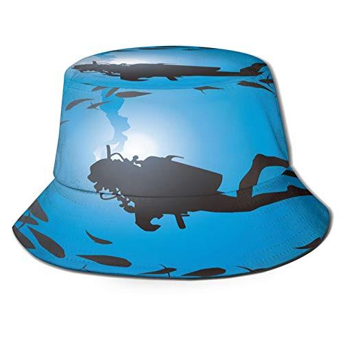 Yoliveya Angelhut Fischerhut,Tauchen Taufe Zeichnung,Bonie Safari Sonnenhüte zum Wandern im Freien für Männer und Frauen