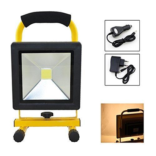 fsders Proiettori a LED di batteria costruzione faretti WasserdichtTragbare campeggio lampada (20 w Warmwei)