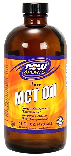 NOW MCT Oil 100% Pure (Glass), 473 g