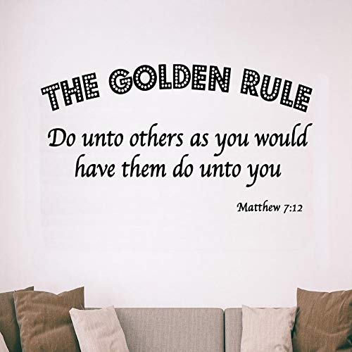 The Golden Rule, Do Unto Others As You Would Have Them Do Unto You, Matthew 7:12 Bible Scripture Christian Vinyl Wall Art Quote 12 Inch In Width