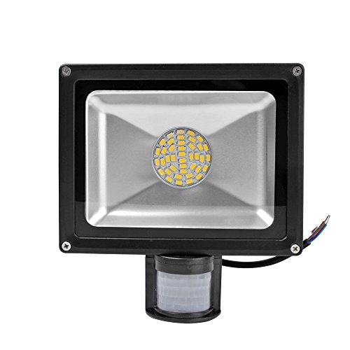 Greenmigo 30W SMD Fluter mit Bewegungsmelder LED Strahler Warmweiß warmweiss Licht IP65 Wasserdicht LED Lampe Wandleuchter Flulicht Flutbeleuchtung LED Gartenlampe Außenstahler