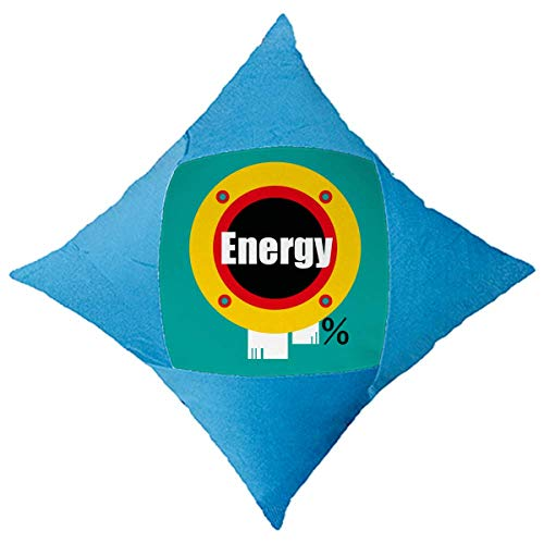 OFFbb-USA Youth Vitality Energy Throw almohada azul funda de almohada decorativa para cama de coche