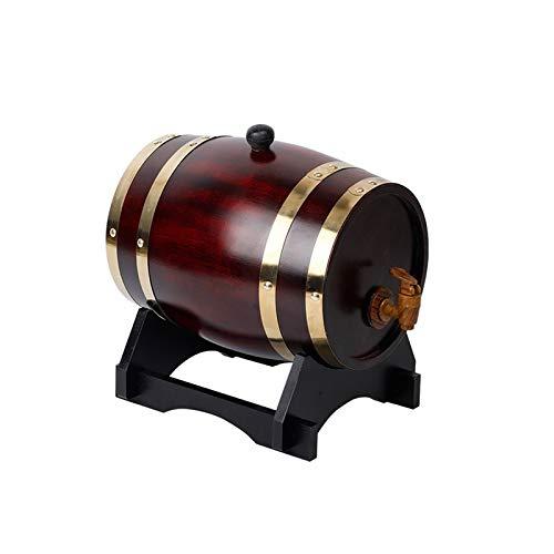 Barriles De Madera Maciza 10L/20L/30L/50L Barril De Vino, Vino Especial De Madera Dispensador De Barril, Vino Tinto Envejecido O Almacenado, Whisky, Cerveza, Cóctel, Vinagre (con Grifo)(Size:2