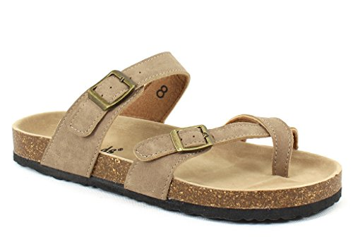 OUTWOODS Women's Bork 30 Taupe Syntheticsandals 8 B(M) US