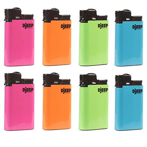 Neon Hot Body Djeep Lighters, 8 Count