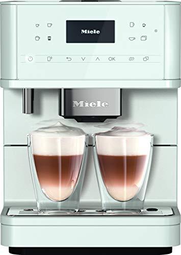 Miele CM 6160 MilkPerfection Kaffeevollautomat / Getränkevielfalt / Expertenmodus / Performance Mode / MilkPerfection / Vernetzung mit WiFiConn@ct / 4 Genießerprofile / Lotosweiß