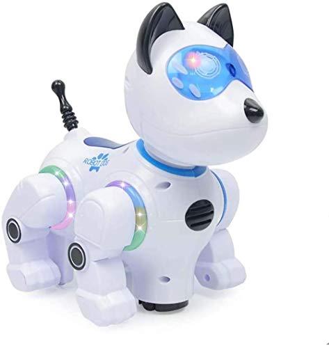 Control Remoto inalámbrico Perro Inteligente máquina Inteligencia Desarrollo eléctrico Juguete Perro Tacto Sensor electrónico Mascota Colorido luz Bailando Blanco Iteration