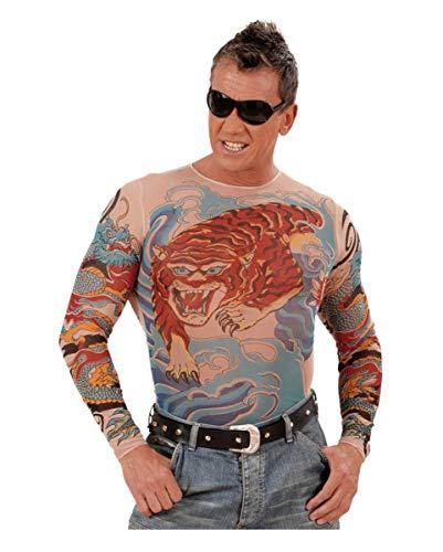 Horror-Shop Chemise de Tatouage Tigre et Dragon