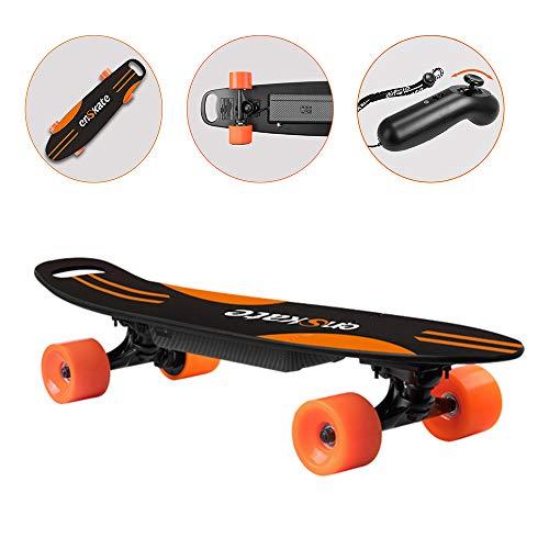 LSXX Elektrische kruis skateboard draagbare reis-skateboard professioneel skateboard op straat (12 km bereik, 7 lagen Canadese esdoorn)