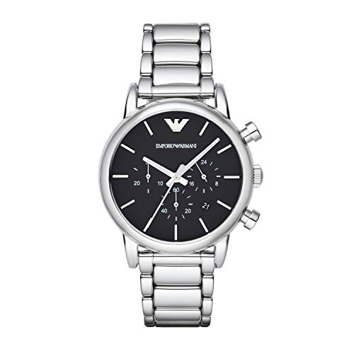 Emporio Armani Herren Chronograph Quarz Uhr mit Edelstahl Armband AR1853