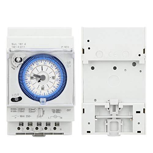 Relé temporizador, interruptor de tiempo de estructura simple, tamaño compacto, fácil de instalar y usar para electrodomésticos de control industrial