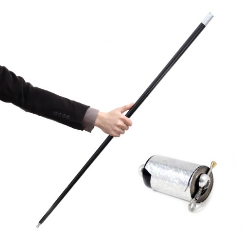 Black Metal Appearing Cane with Video Tutorial - Stage Magic Trick by Magic Seed