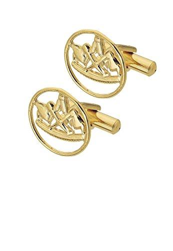 Eiko Manschettenknöpfe mit Zunftzeichen, vergoldet (Zimmermann)