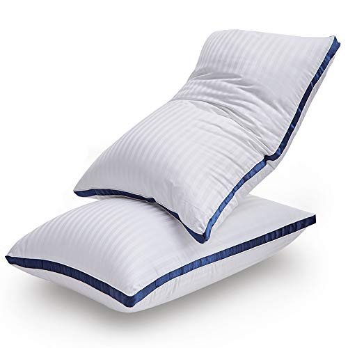 LIANLAM Pillows for Sleeping - [2 Pack] Hotel Quality Bed Pillows, Down Alternative Hypoallergenic Pillows for Side Back and Stomach Sleepers,100% Breathable Cotton Cover (King)