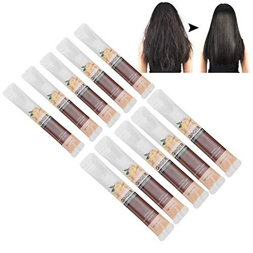 Acondicionador del pelo del jengibre 10pcs, mascarilla nutritiva hidratante del pelo del tratamiento del pelo 10ml