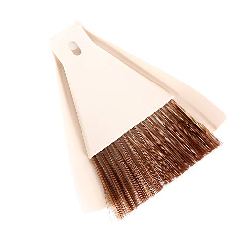 CHENGX Mini Cepillo de Limpieza de Barrido de Escritorio,Juego de Escoba de Mini recogedor,recogedor para Limpieza de Mesa de Escritorio,batidor(White)