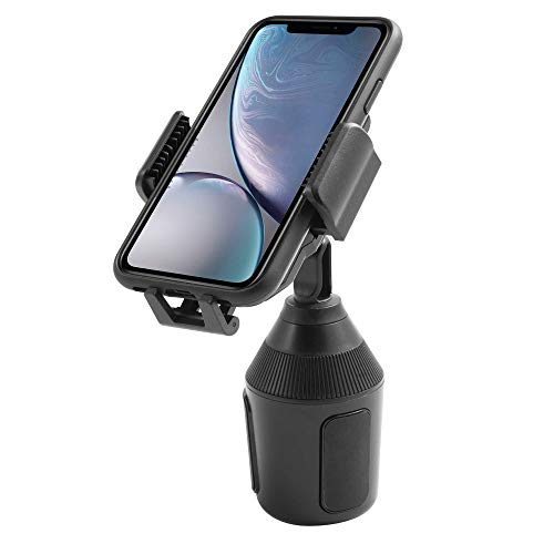Cup Car Phone Holder, Insten 360 Degree [One Button Release] Adjustable Cradle Cup Holder Car Mount Compatible with iPhone 11/11 Pro/ 11 Pro Max/XS/XS MAX/XR/X/8/8Plus, Galaxy S10/S9/Note 20 Ultra