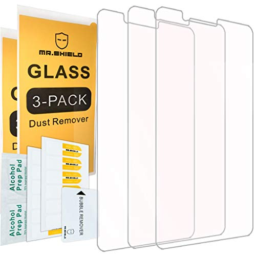 [3-PACK]-Mr.Shield Designed For ZTE Blade Z Max [Tempered Glass] Screen Protector with Lifetime Replacement