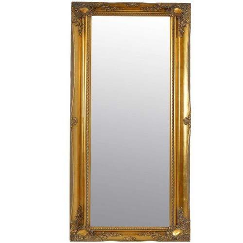 4FT6X 1FT6, 137cm x 46cm groß Gold antik Kunstvolles Design Kleid Big Wandspiegel