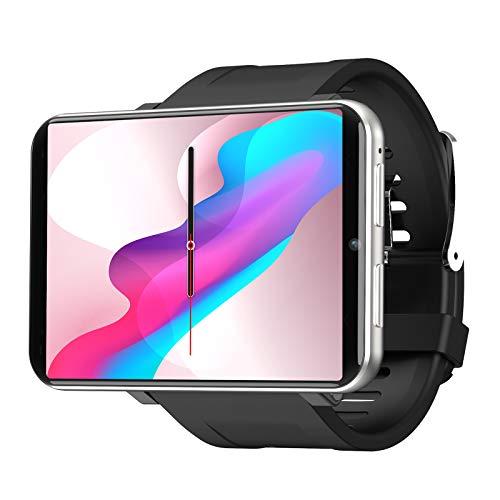 """smartwatch sim 4G Smart Watch Orologio Sportivo GPS con Fotocamera da 5MP HD +2700mah Batteria Grande + 2.8 """"Display LCD Smartwatch WIFI Pedometro Della Frequenza Orologio Telefonocon SIM Slot (Argento"""
