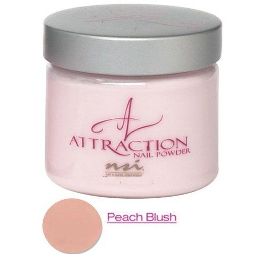 NSI 'Attraction', acrylic nail powder, peach blush, opaque