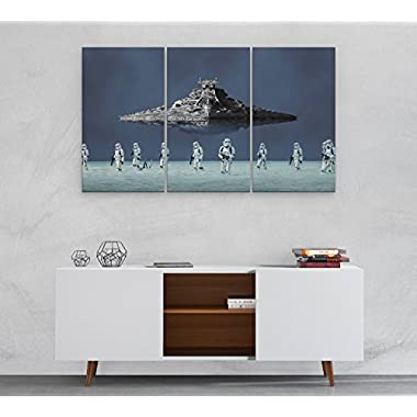 Star Wars Storm Trooper Canvas, Poster, Print, Wall Art N.006 (3-Panel 42 x24 )