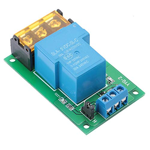 Relaismodul 1-Kanal-Relais-Leistungsschaltermodul mit Optokoppler-Einweg-Auslöserelais-Erweiterungskarte 30A YYG-2(5VDC)