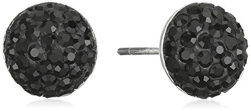 SilberDream Glitzer Ohrstecker Circle schwarz Preziosa Zirkonia Kristalle 925 Sterling Silber Ohrringe GSO215S