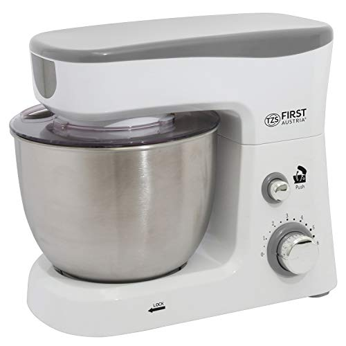 Knetmaschine mit 3,5 L Edelstahl-Rührschüssel | Planetenrührwerk | Edelstahl-Schneebesen | Rührmaschine | Teigmaschine | Küchenmaschine mit Spritzschutz 700 Watt