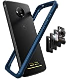 Casewe - Motorola Moto Z4 Protective Flexible Double Injection Technology (TPU+PC) Bumper Case Cover/Compatible with Moto Mods - Deep Blue
