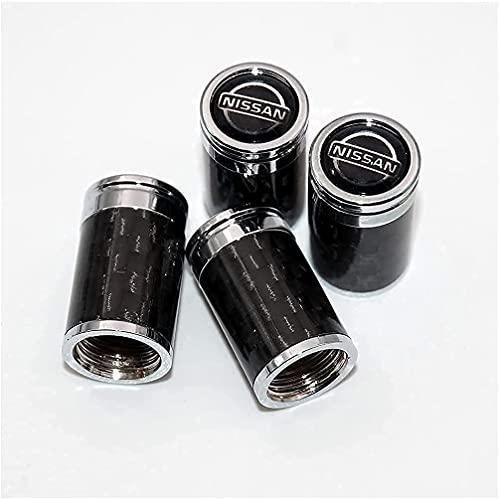 4 Piezas Coche de Neumático Tapas para válvulas para Nissan Patrol X-Trail Xterra NAVARA Qashqai Leaf Juke GT-R 370Z, Duradero Antipolvo Anti-Robo DecoracióN Accesorio