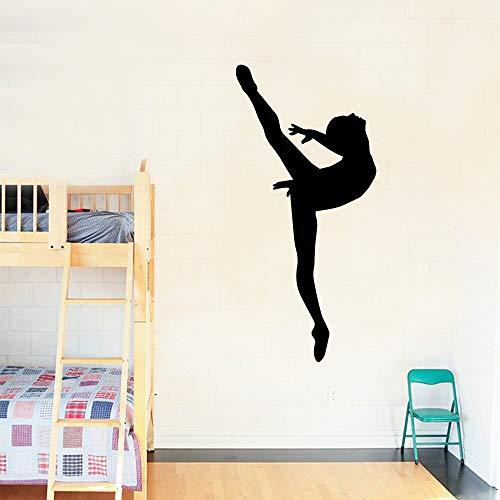 Art Dancer Pegatinas de pared de vinilo Decoraciones de pared para habitaciones de niñas Pegatinas de dormitorio Murales Pegatinas de pared decorativas extraíbles A6 L 43x91cm