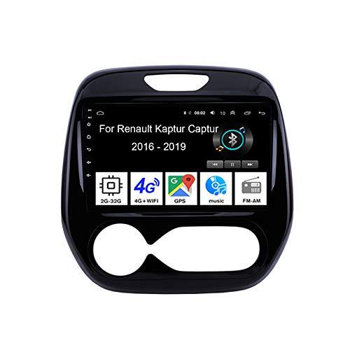 Android 10 Autoradio 9 Pulgadas Coche Radio De Coche Pantalla Tactil para Renault Kaptur Captur 2016-2019 4 Cores 2G+32G con Pantalla Coche Conecta Y Reproduce Video SWC Cámara Trasera
