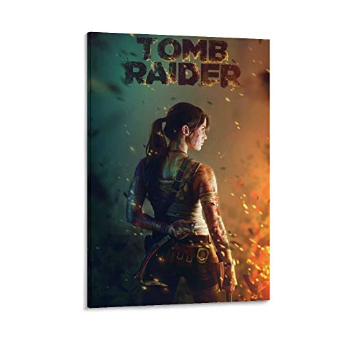 ASDJL Póster de Game Tomb Raider Deviantart, cuadro decorativo para pared, para sala de estar, dormitorio, 60 x 90 cm