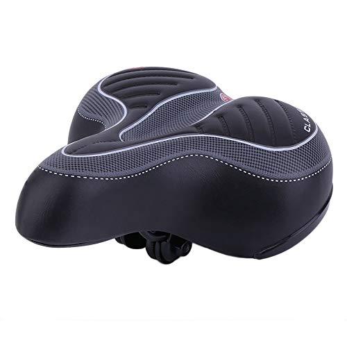 KUAQI Fahrradsattel, ergonomischer bequemer Cityrad Sattel Fahrradsitz, weiche und breite Fahrrad Bequemes breites Big Bum Bike Fahrrad Gel Cruiser Extra sportliches Soft Pad