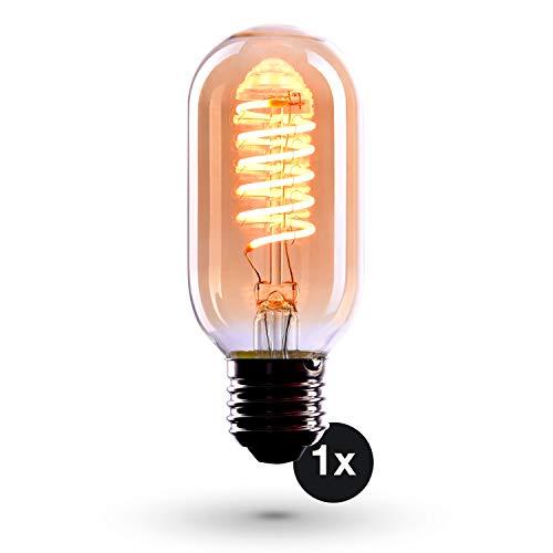 CROWN LED 1x Edison Glödlampa - E27-Sockel - Dimningsbar - 4W, Varmt Vitt Ljus, 230V, EL06 - Antik Glödlampa i Retro/Vintagelook - Energiklass A+