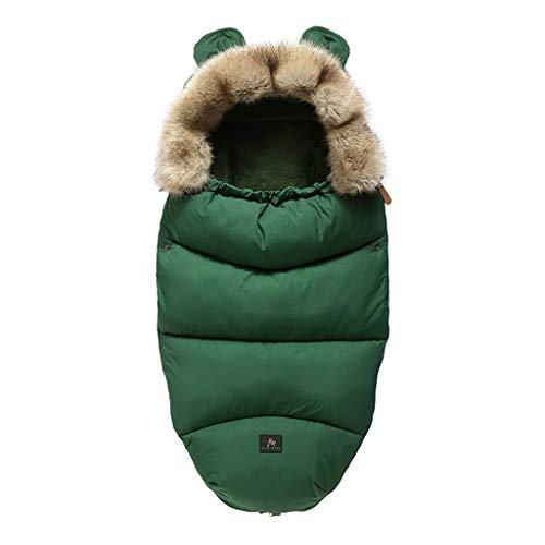 XIANGBEI FYYIYI - Saco de dormir para cochecito de bebé, con piel sintética extraíble, antichoque, para noches de bebé, saco de dormir seguro