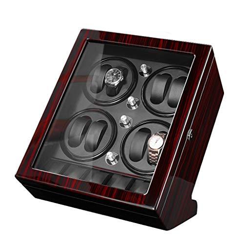 CHYOOO Caja de almacenamiento de reloj automática de madera, 8 + 5 cajas de almacenamiento, pintura de piano, 5 espacios de almacenamiento, 4 modos, caja de exhibición de lujo para relojes (color A)