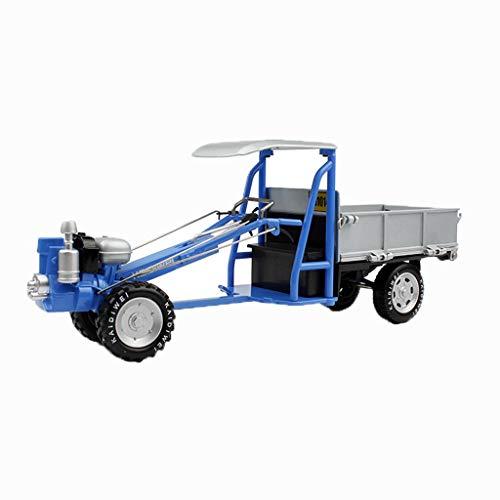 Juguete camiones de juguete de construcción de vehículos de juguete carro del tractor de remolque de tractor motocultor camiones de juguete for los niños simulación ( Color : Walking tractor blue )